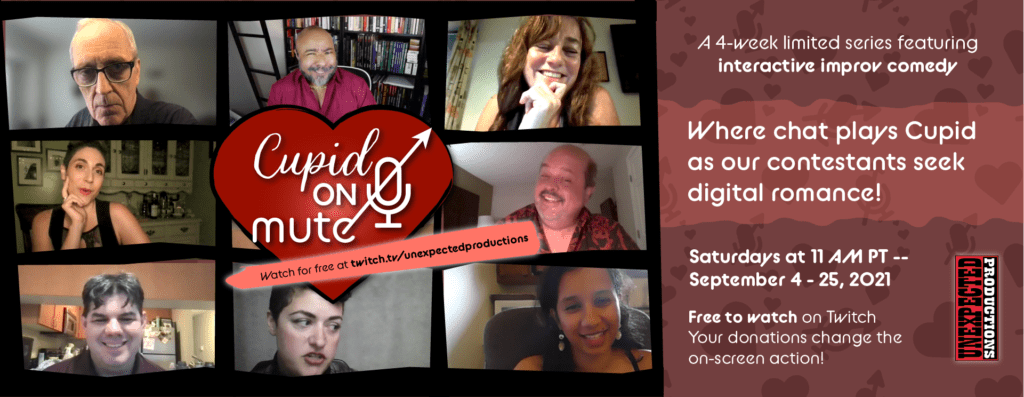 Cupid on Mute cast photos. Where chat plays Cupid as our contestants seek digital romance.